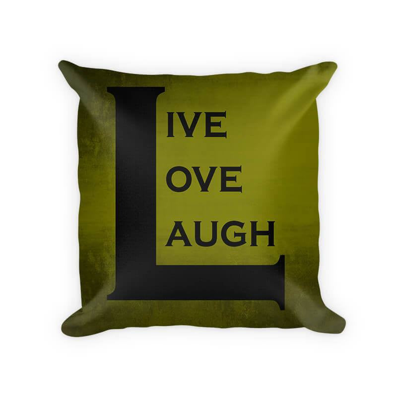 Live Love Laugh II Cotton/Poly Throw Pillow - WallLillies