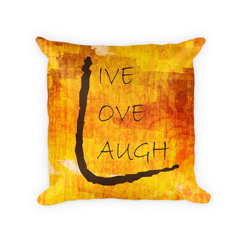 Live Love Laugh III Woven Cotton Pillow - WallLillies