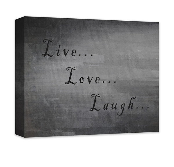 Live Love Laugh I Canvas Wall Art - WallLillies