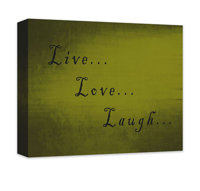 Live Love Laugh I Canvas Wall Art – WallLillies