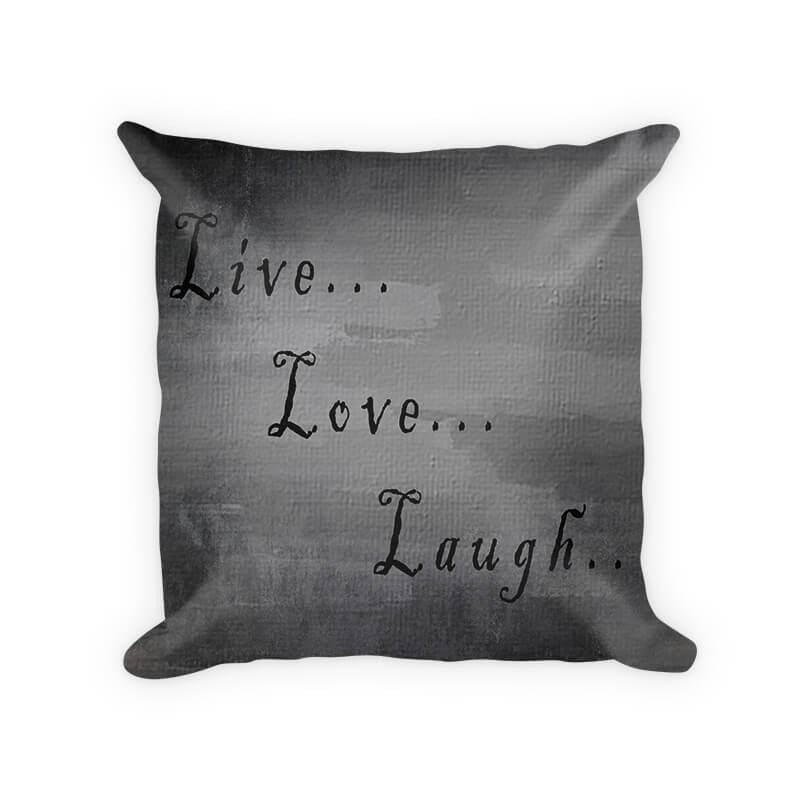 Live Love Laugh I Woven Cotton Throw Pillow - WallLillies