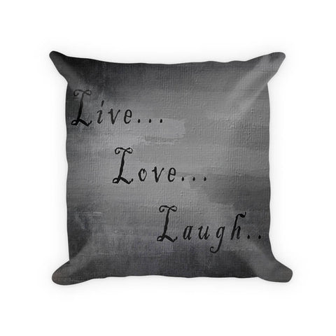 Live Love Laugh I Woven Cotton Throw Pillow