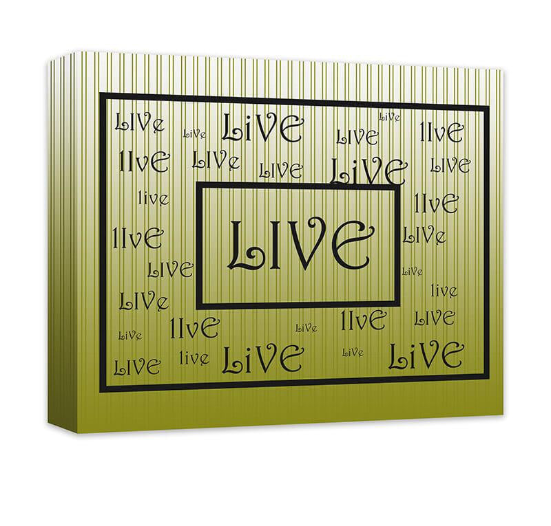 Live Word Art Word Collage I Canvas Wall Art – WallLillies