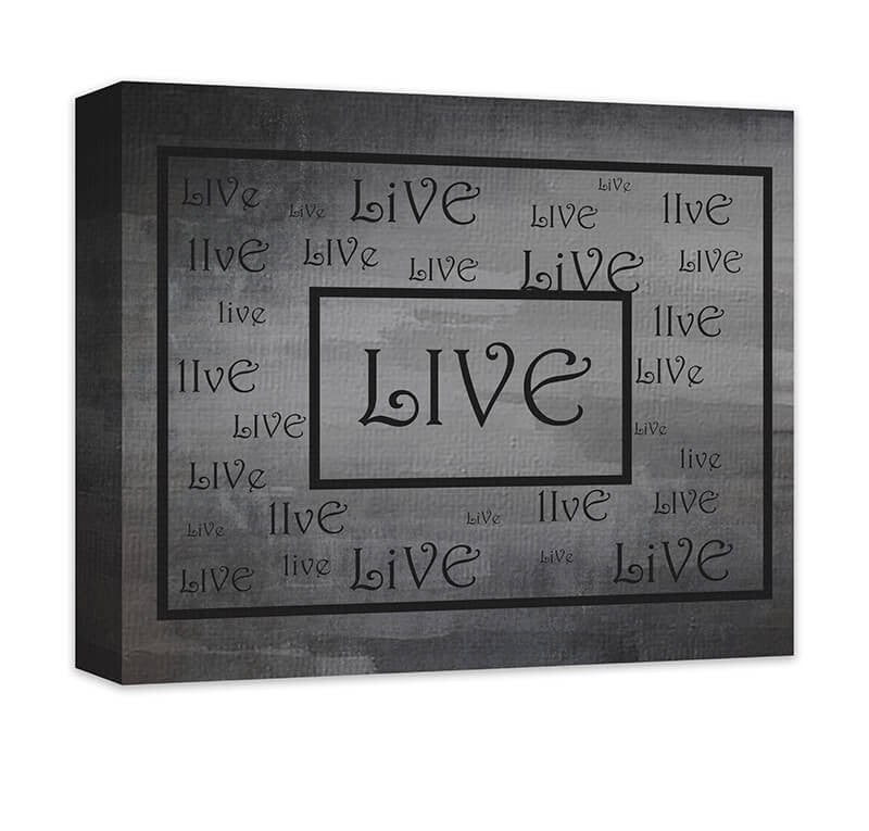 Live Word Art Word Collage I Canvas Wall Art - WallLillies