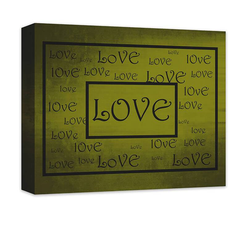 Love Word Art Word Collage I Canvas Wall Art – WallLillies