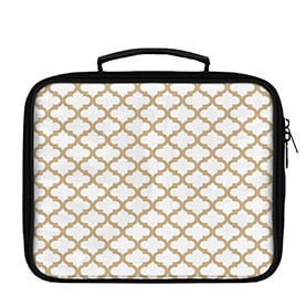 Quatrefoil Pattern Solid on White Lunch Box - WallLillies