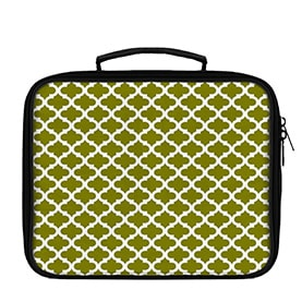 Quatrefoil Pattern White on Solid Lunch Box - WallLillies