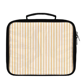 Vertical Stripes Pattern Solid on White Lunch Box - WallLillies