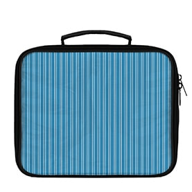 Vertical Stripes Pattern White on Solid Lunch Box - WallLillies