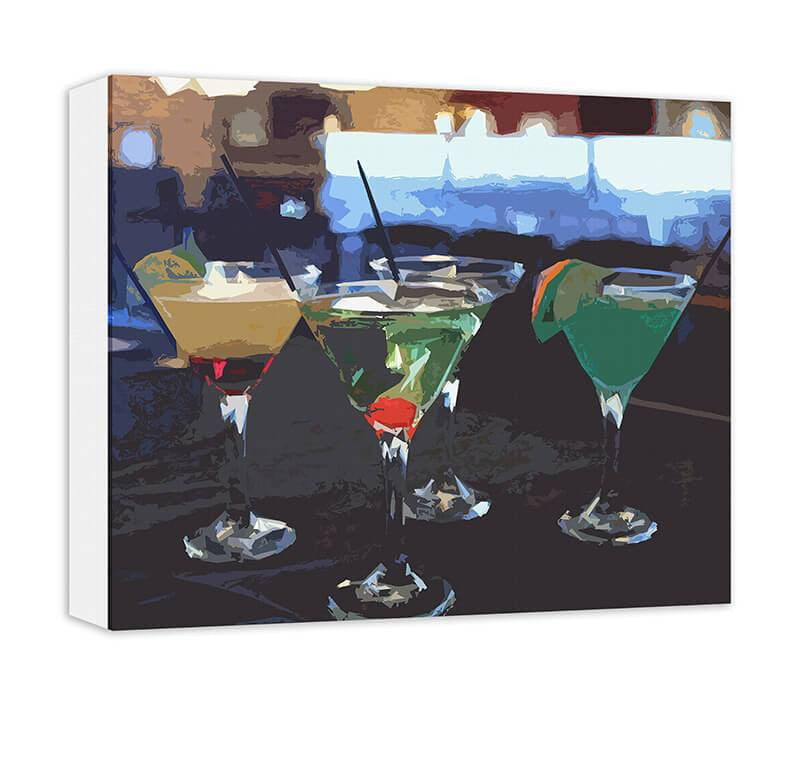 Martini Time II Canvas and Print Wall Art