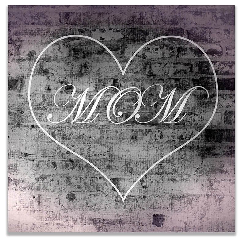 "Heart Enclosed ""Mom"" Print Wall Art - WallLillies"