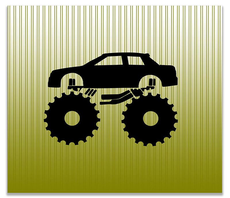 Monster Truck Children's Print Wall Art - WallLillies