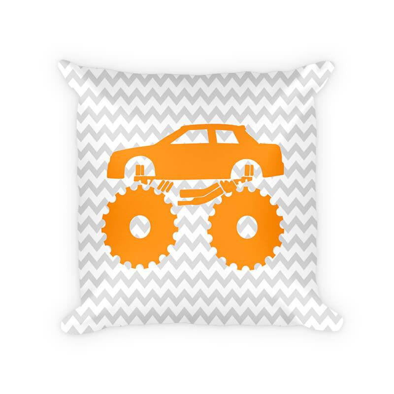 Monster Truck Children's Woven Cotton Pillow - WallLillies