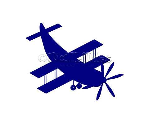 Biplane Aircraft Decal