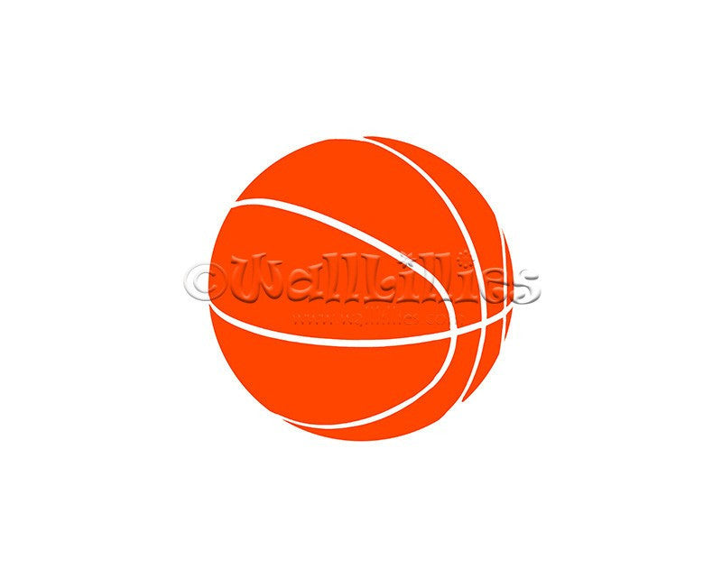 Basketball Decal - WallLillies