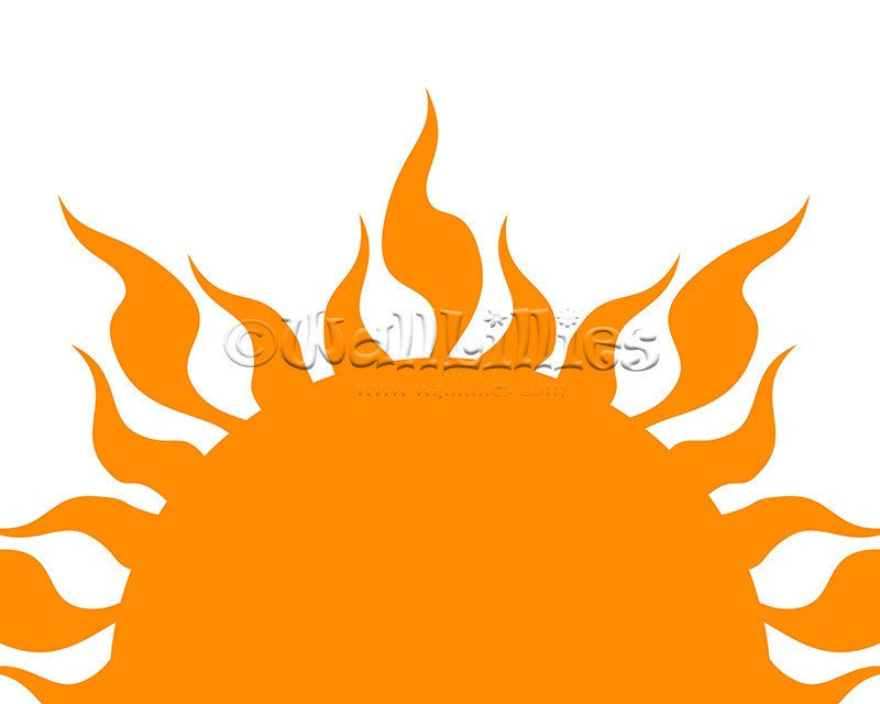 Sunset and Rising Sun Decal