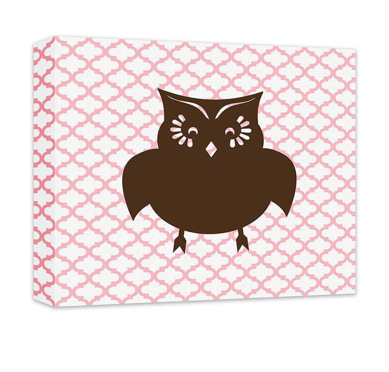 Owl I Children's Canvas Wall Art - WallLillies