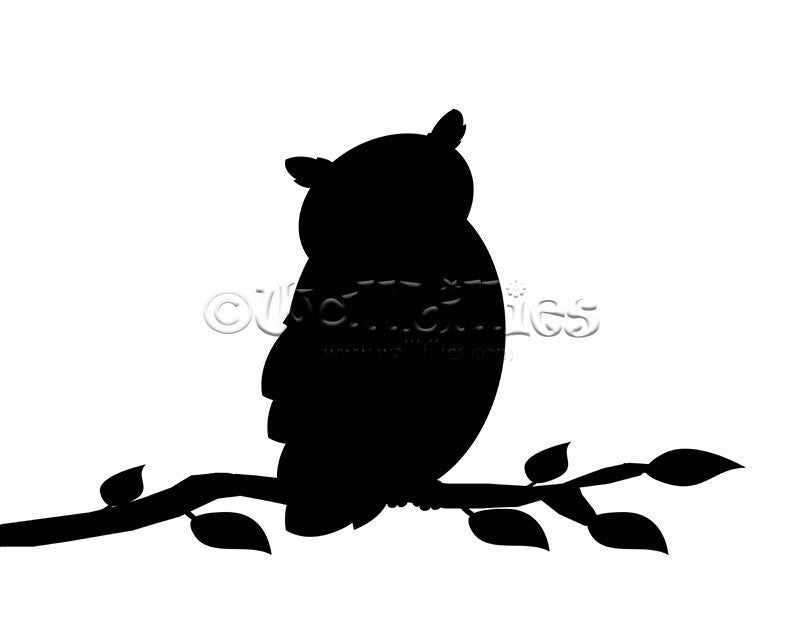 Owl on a Branch Decal - WallLillies
