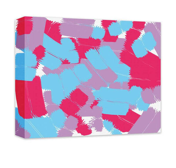 Patchwork Graffiti II Canvas Wall Art - WallLillies