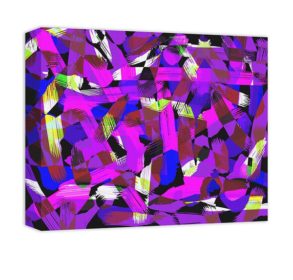 Patchwork Graffiti I Canvas Wall Art - WallLillies