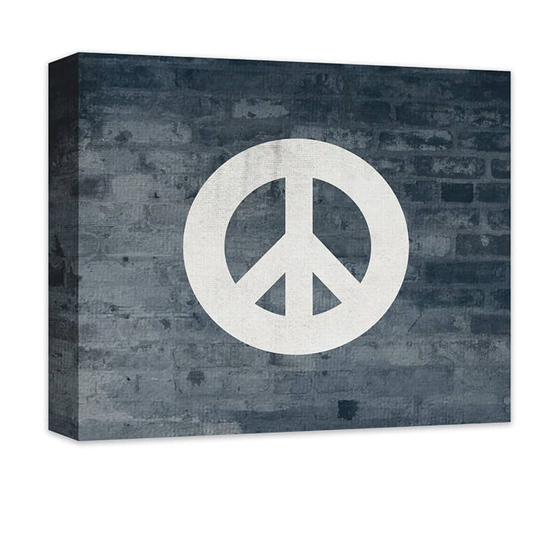 Peace Sign Canvas Wall Art – WallLillies