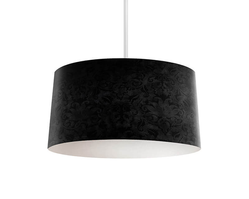 Black Brocade Pendant Lamp - WallLillies
