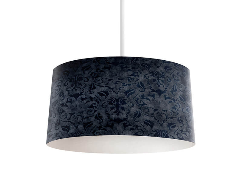 Blue Brocade Pendant Lamp - WallLillies