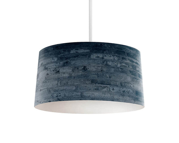 Cool Blue Brick Pendant Lamp - WallLillies