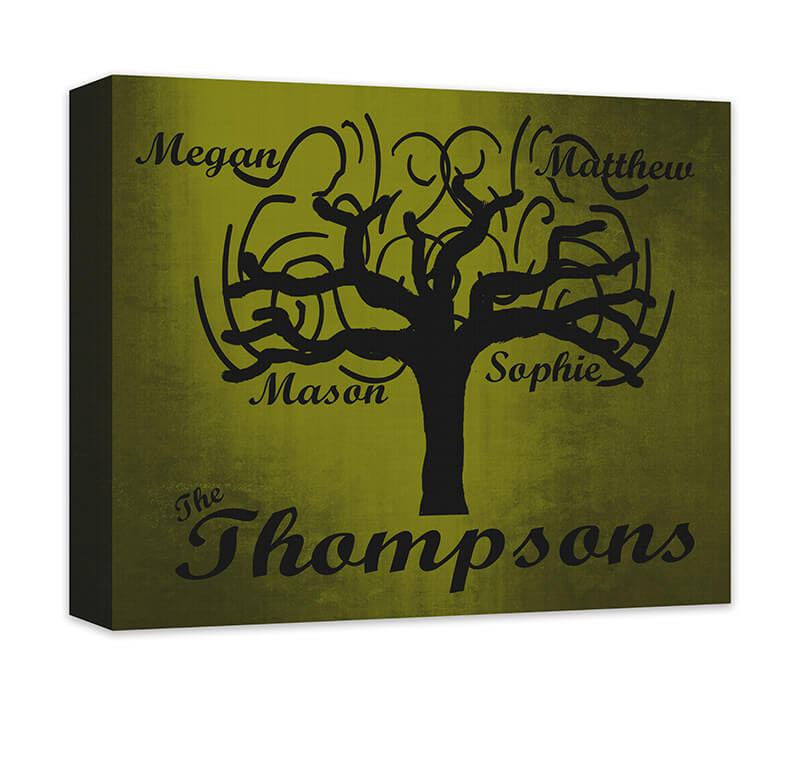 Personalized Family Tree Whimsical Canvas Wall Art – WallLillies