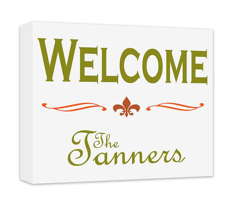Personalized Family Welcome Canvas Wall Art - WallLillies