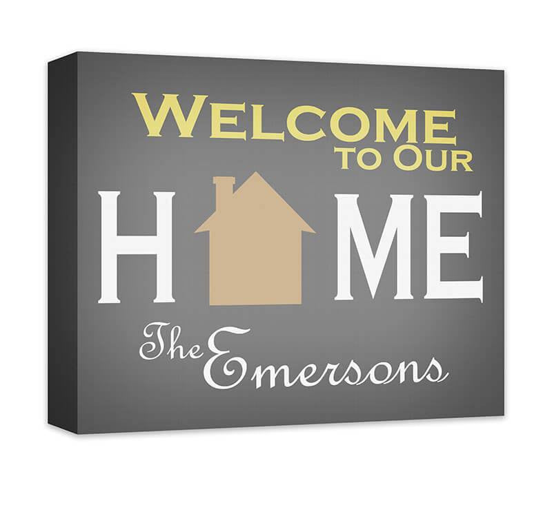 Personalized Family Welcome to Our Home Canvas Wall Art - WallLillies