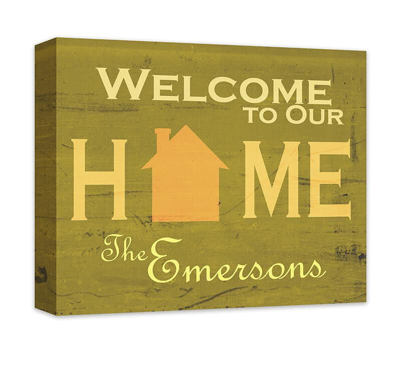 Personalized Family Welcome to Our Home Canvas Wall Art – WallLillies