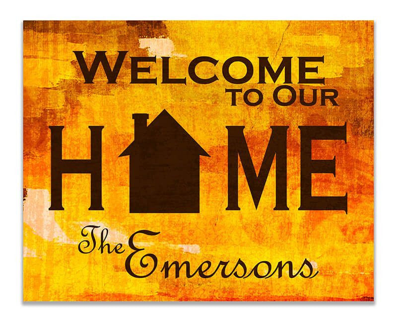 Personalized Family Welcome to Our Home Print Wall Art