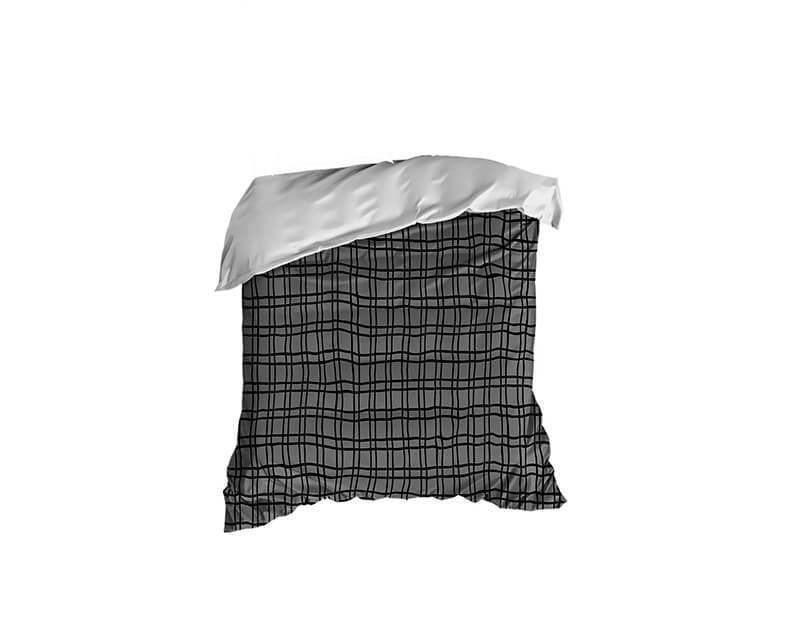 Black and Gray Plaid Crib Comforter - WallLillies