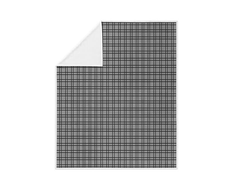 Black and Gray Plaid Fleece Blanket