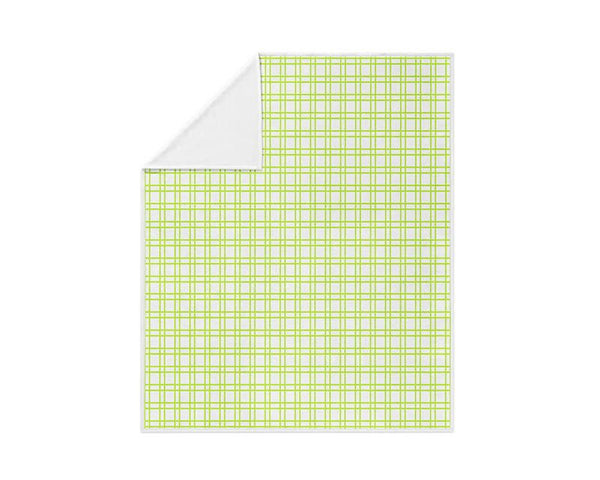 Lime Green Plaid Fleece Blanket - WallLillies