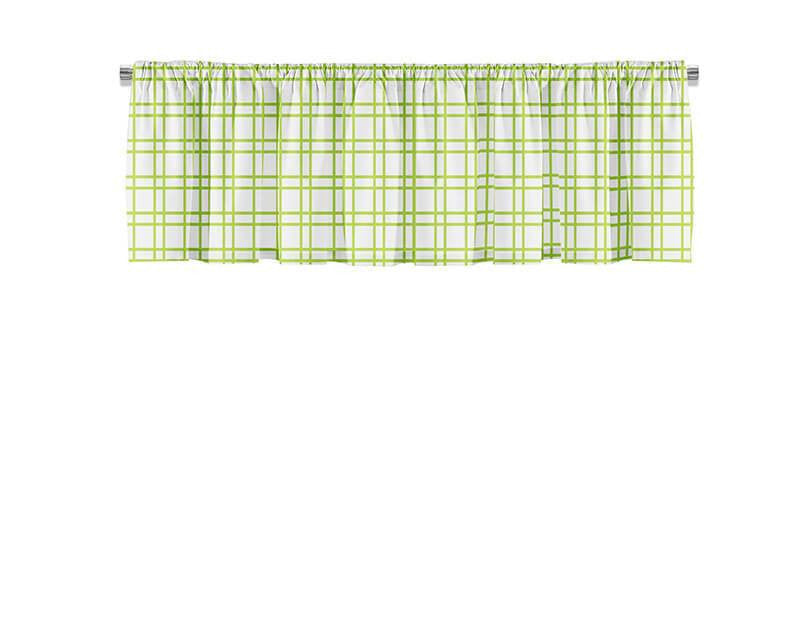 Lime Green Plaid Valance
