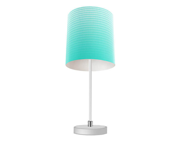 Turquoise Plaid Gradient Table Lamp
