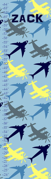 Personalized Planes Growth Chart - WallLillies