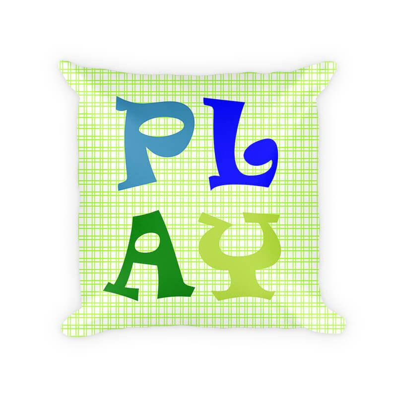 Play II Children's Cotton Poly Throw Pillow