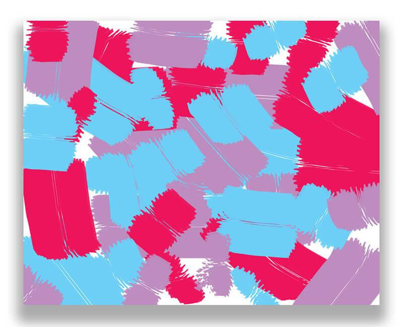 Patchwork Graffiti II Print Wall Art - WallLillies