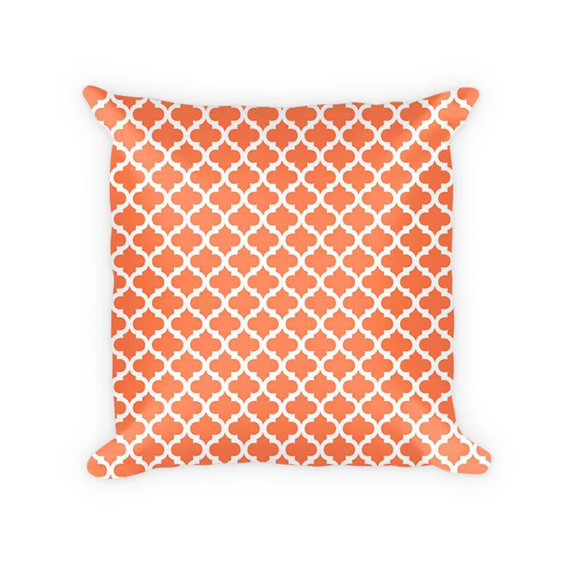 Quatrefoil White on Solid Color Woven Cotton Throw Pillow - WallLillies