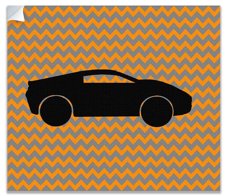 Race Car Children's Print Wall Art