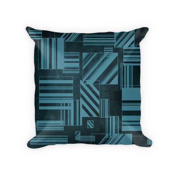 Rectangles Abstract I Cotton Poly Throw Pillow - WallLillies