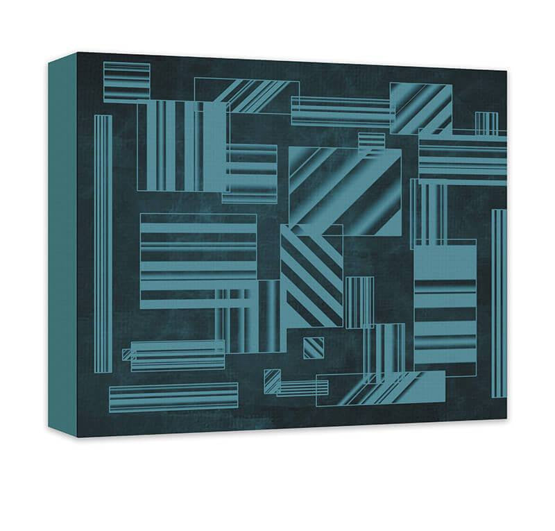Rectangles Abstract I Canvas Wall Art - WallLillies
