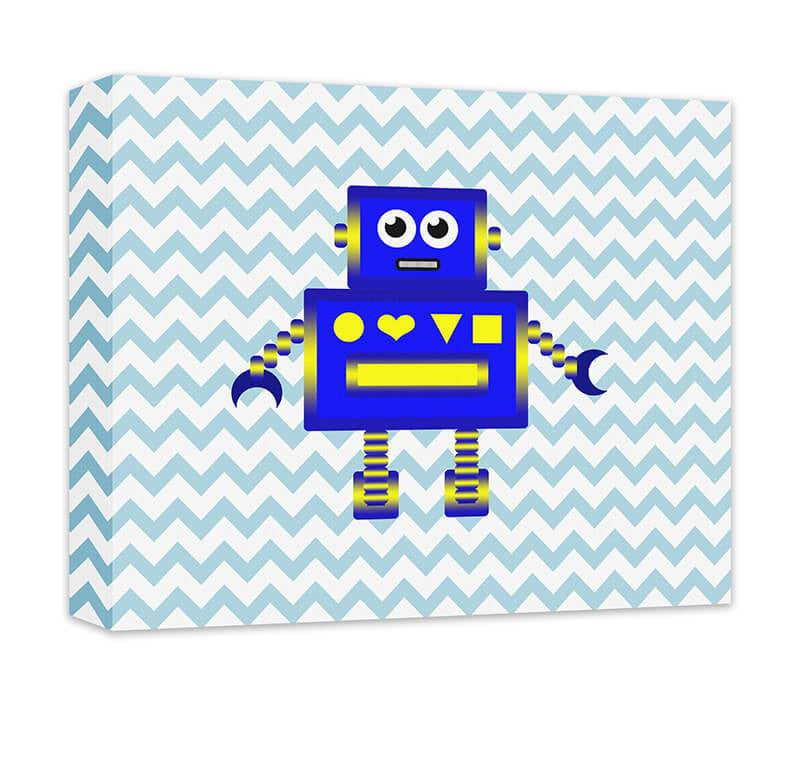 Robot Children's Canvas Wall Art - WallLillies