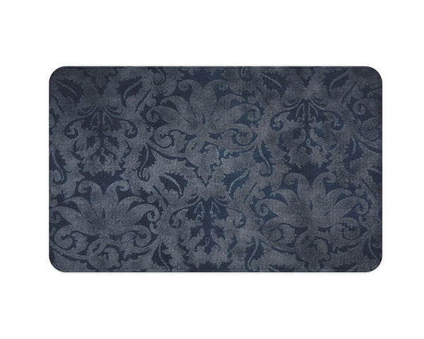 Blue Brocade Plush Rug - WallLillies
