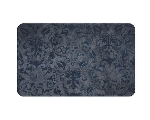 Blue Brocade Plush Rug
