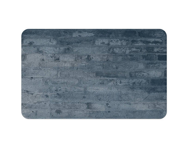 Cool Blue Brick Plush Rug