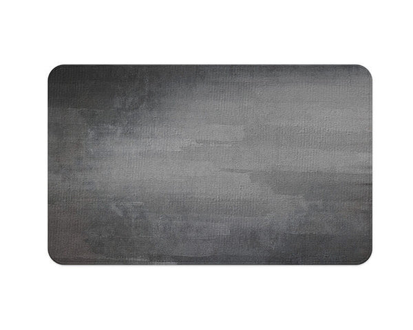 Gray Grunge Plush Rug - WallLillies
